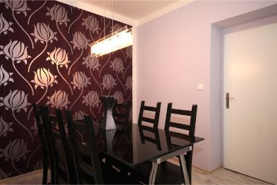 Purple apartment student room flat Prague